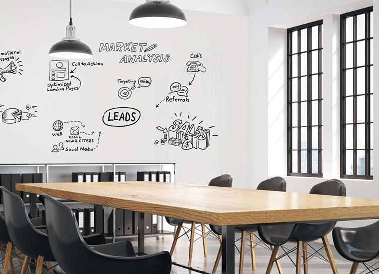 Whiteboard Wandbelag von Surtech